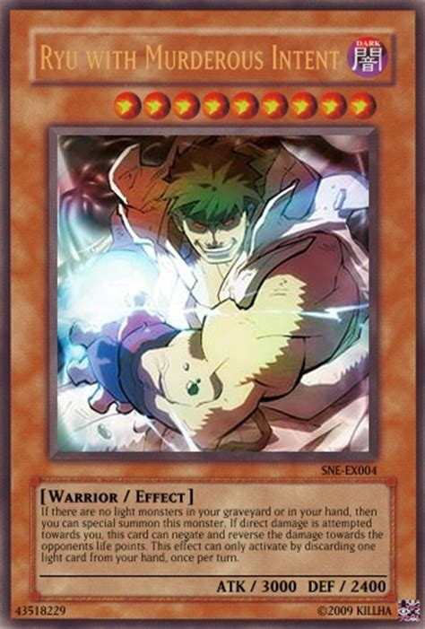 how to make real yugioh cards murderous ryu yu gi oh card by the real killha on deviantart