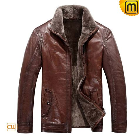 lined leather jacket fur lined mens leather jacket cw819064