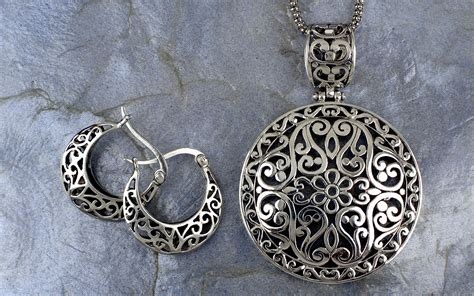 filigree for jewelry sterling silver bali inspired filigree pendant