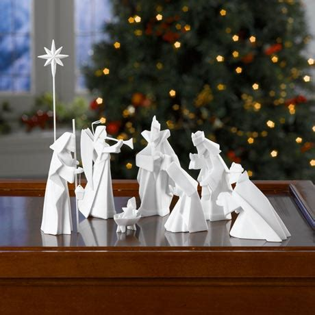 nativity origami porcelain origami nativity at signals hl6122