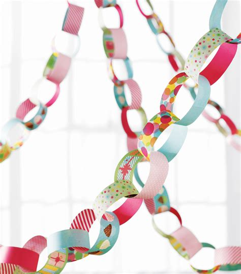 paper chain crafts martha stewart crafts paper chain kit modern festive