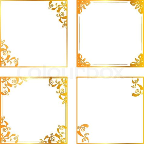 Victorian Style Home Plans gold floral frame stock vector colourbox