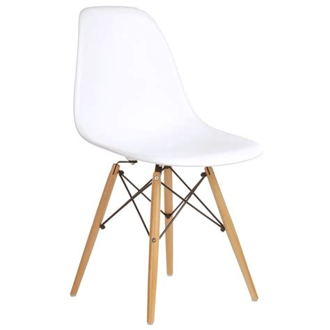 Eames Style Chairs by Set Of 2 Eames Style Dsw Molded White Plastic Dining Shell