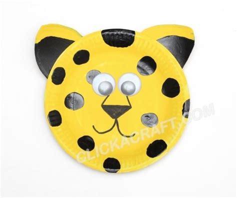 cheetah crafts for paper plate leopard idea paper plate craft