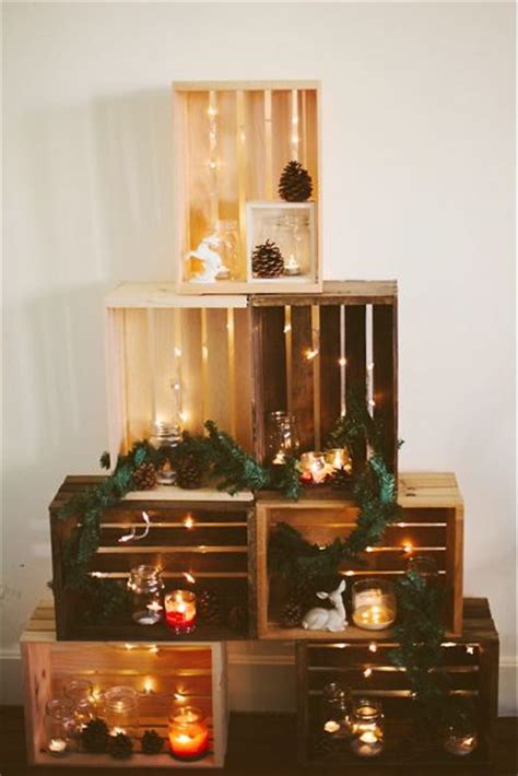 box for tree lights wooden crate tree trees navidad and