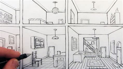how to draw a bedroom how to draw a room in one point perspective in a house