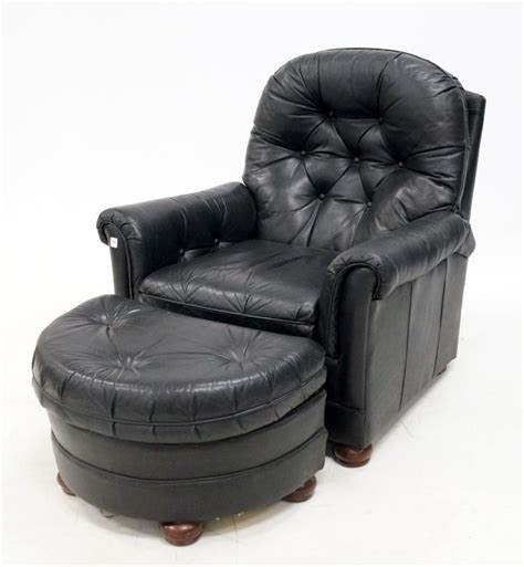 recliner with ottoman leather black leather recliner armchair with ottoman
