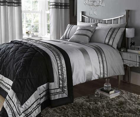 silver bedding set silver diamante quilt duvet cover pillowcases bedding