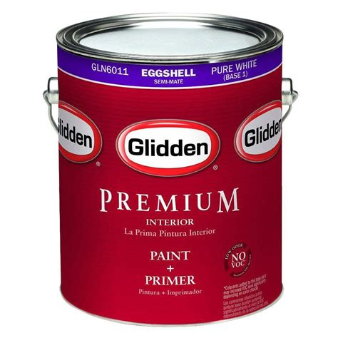 home depot paint eggshell finish glidden premium 1 gal eggshell interior paint gln6012 01