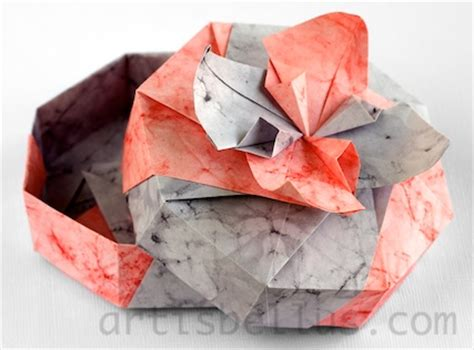 how to make an origami flower box origami boxes flower box origami artis bellus