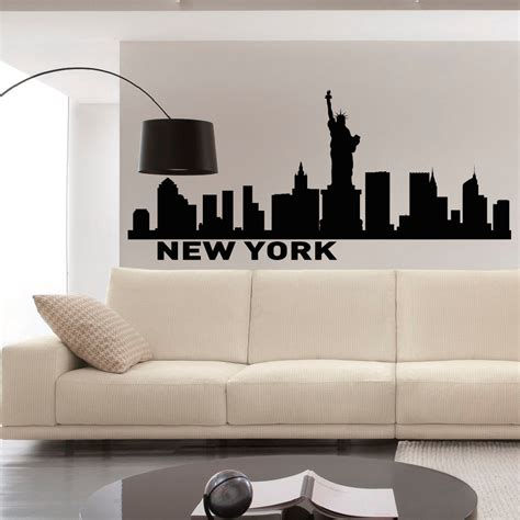 new york skyline wall sticker new york skyline wall decals vinyl stickers nyc skyline city