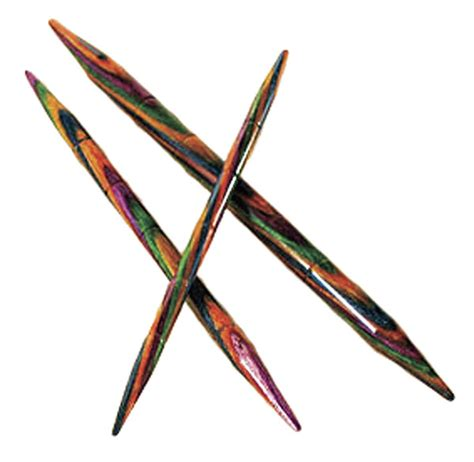 Options Rainbow Wood Cable Knitting Needles From Knitpicks