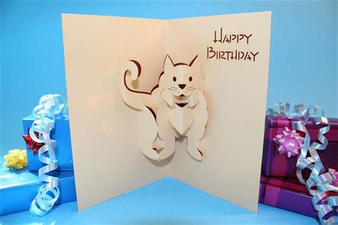 how to make a pop up cat card happy birthday pop up greeting cards it s unique bolton