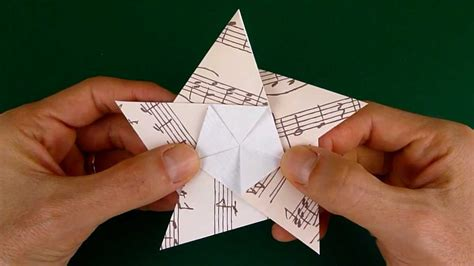 how to make an origami 5 pointed folding a 5 pointed origami