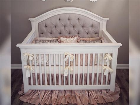 tufted baby crib custom tufted convertible crib furniture in
