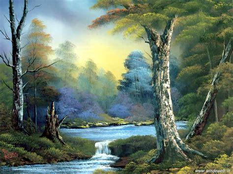 bob ross painting blue moon foto paesaggi dipinti