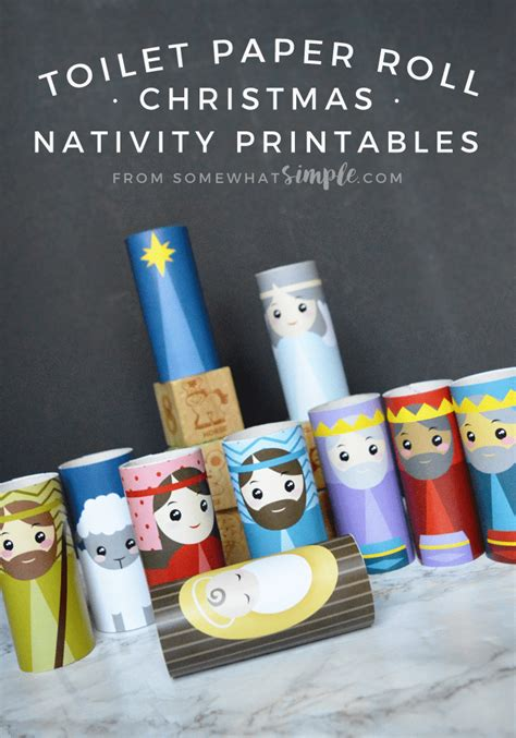 nativity paper craft toilet paper roll nativity craft printables somewhat simple