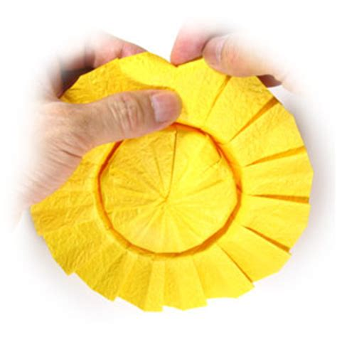 origami sunflower step by step how to make an origami sunflower page 8