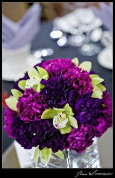 purple and green decorations carnation centerpieces on carnation bouquet
