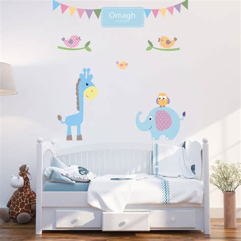 personalised wall stickers personalised baby boy wall stickers by parkins interiors