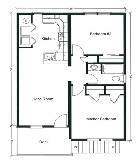 2 bedroom house floor plans 2 bedroom bungalow floor plan plan and two