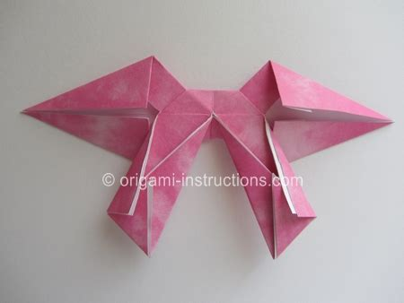 how to make origami crossbow best photos of step by step origami bow origami bow tie