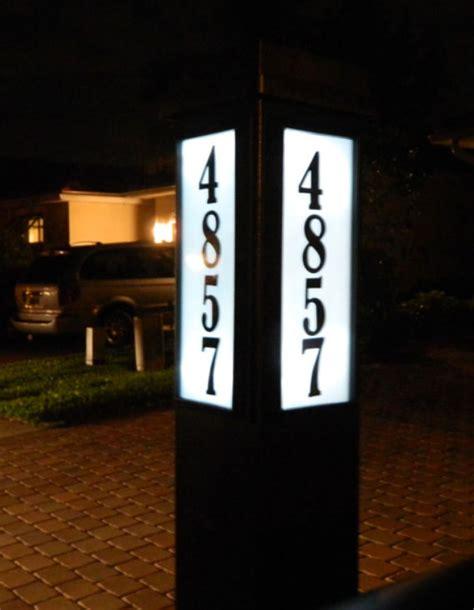 lighted address sign solar solar powered mailbox light address sign