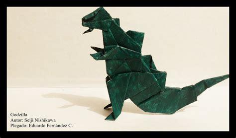 how to make an origami godzilla godzilla origami 01 by schwarzeherzphotoart on deviantart
