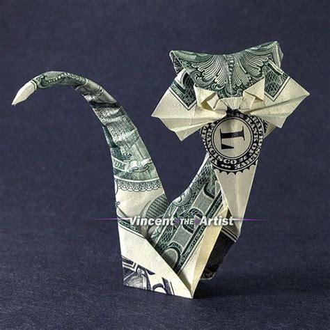 money origami cat dollar bill origami cat money dollar origami
