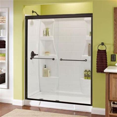 sliding shower doors home depot delta mandara 59 3 8 in x 70 in bypass sliding shower