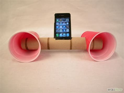 paper cup telephone craft how to make paper cup iphone speakers 6 steps with pictures
