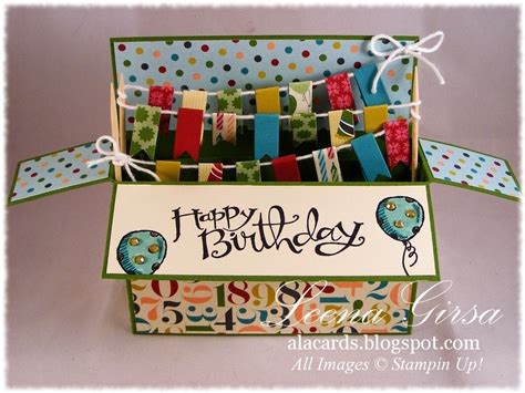box card a la cards card in a box for the twist