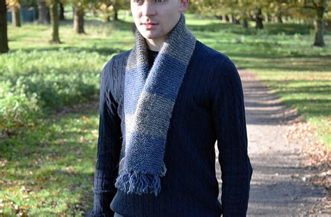 simple mens scarf knitting pattern easy mens scarf knitting pattern with striped detail the