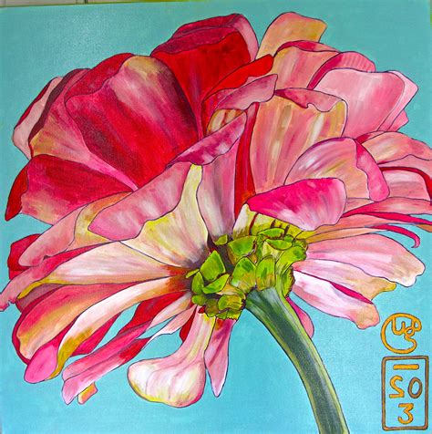 acrylic painting flowers canvas 301 moved permanently