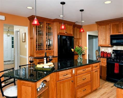 black oak kitchen cabinets kitchens with black appliances black appliances with oak