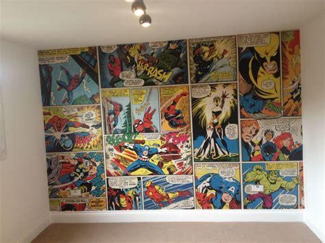 marvel comic wallpaper ronnie s bedroom