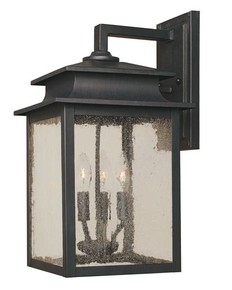 home depot outdoor wall lighting world imports sutton collection rust 3 light 9 in outdoor