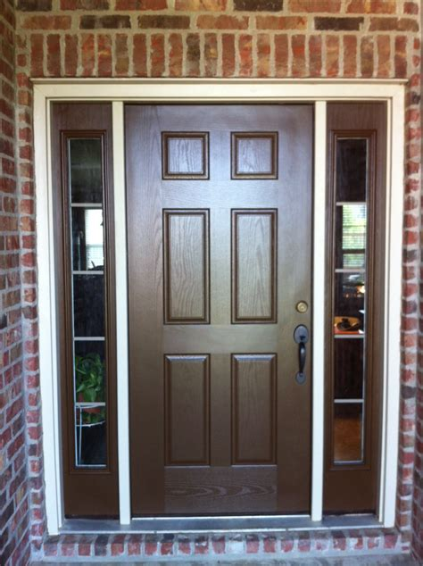 brown front doors doors with sidelights home exterior painting brown
