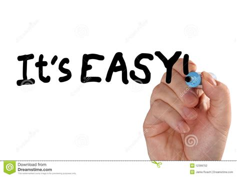 easy for it s easy marker stock photo image of isolated