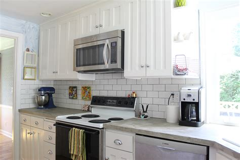 pictures of subway tile backsplashes in kitchen kitchen subway tile backsplash better remade