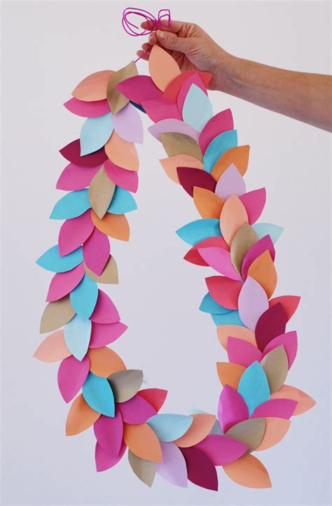 easy crafts to make out of paper diy decor how to make garland craftsy