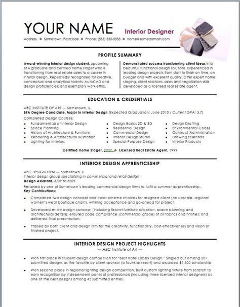 interior design resume templates assistant interior design intern resume template