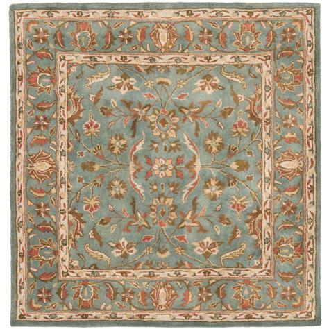 6 square area rug safavieh heritage blue 6 ft x 6 ft square area rug