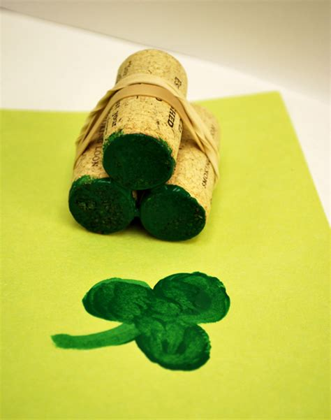 make a rubber st shamrock sting activity for artzycreations