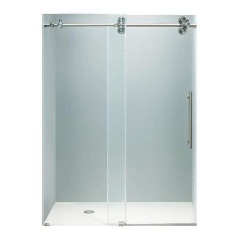 shower doors home depot vigo 48 in x 74 in frameless bypass shower door in