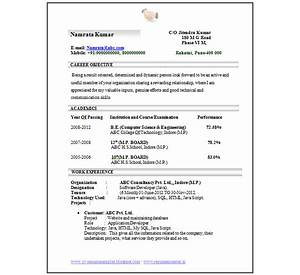 sample cv for fresher engineers cv formats templates - Resume Computer Science Fresher