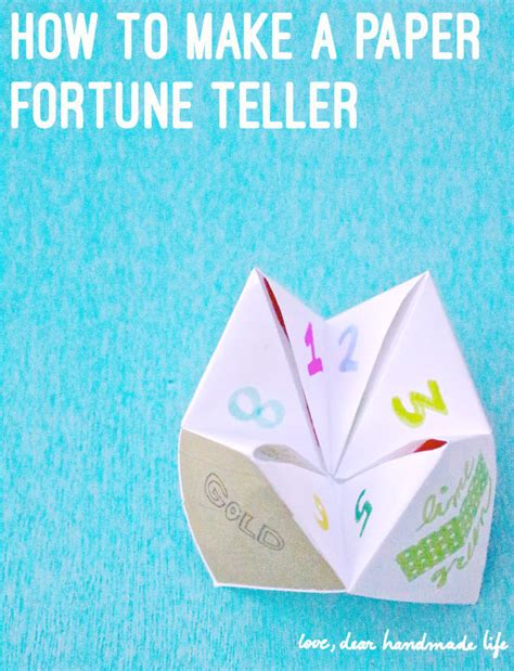 how do you make origami fortune tellers how to make a diy paper fortune teller dear handmade