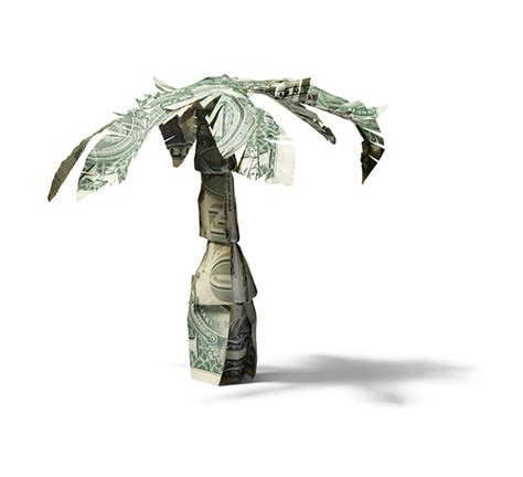 origami palm tree dollar bill palm tree for redbook magazine on behance