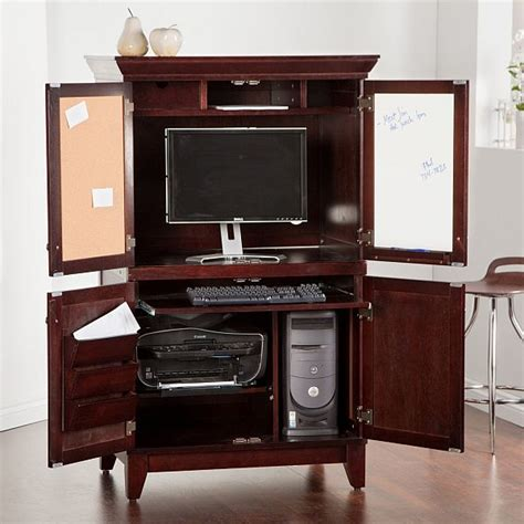 computer desk armoire chic computer armoire