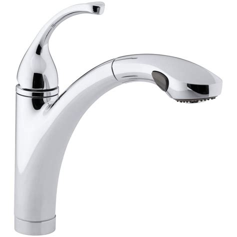 kohler forte pull out kitchen faucet kohler forte single handle pull out sprayer kitchen faucet with masterclean sprayface in